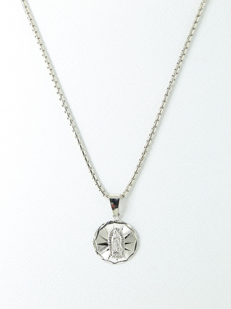The Lady Silver Charm Necklace