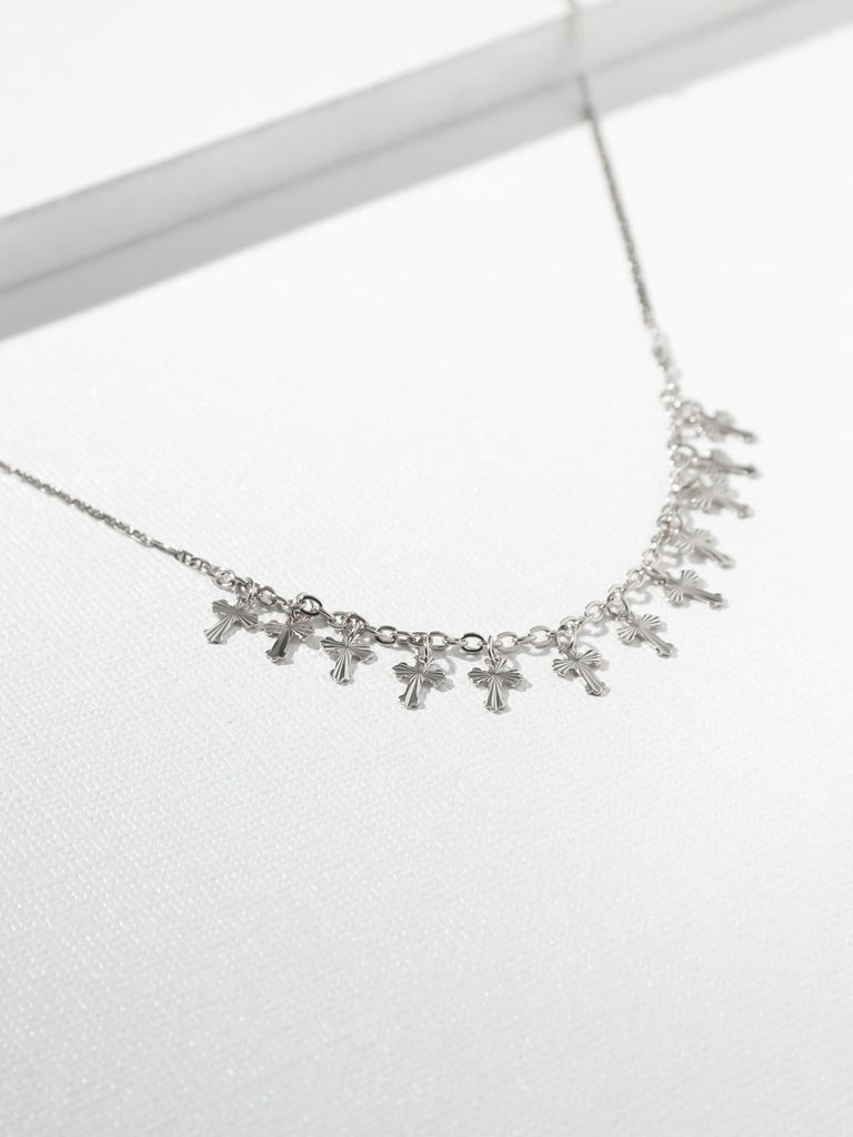 The Sophia Cross Necklace Silver