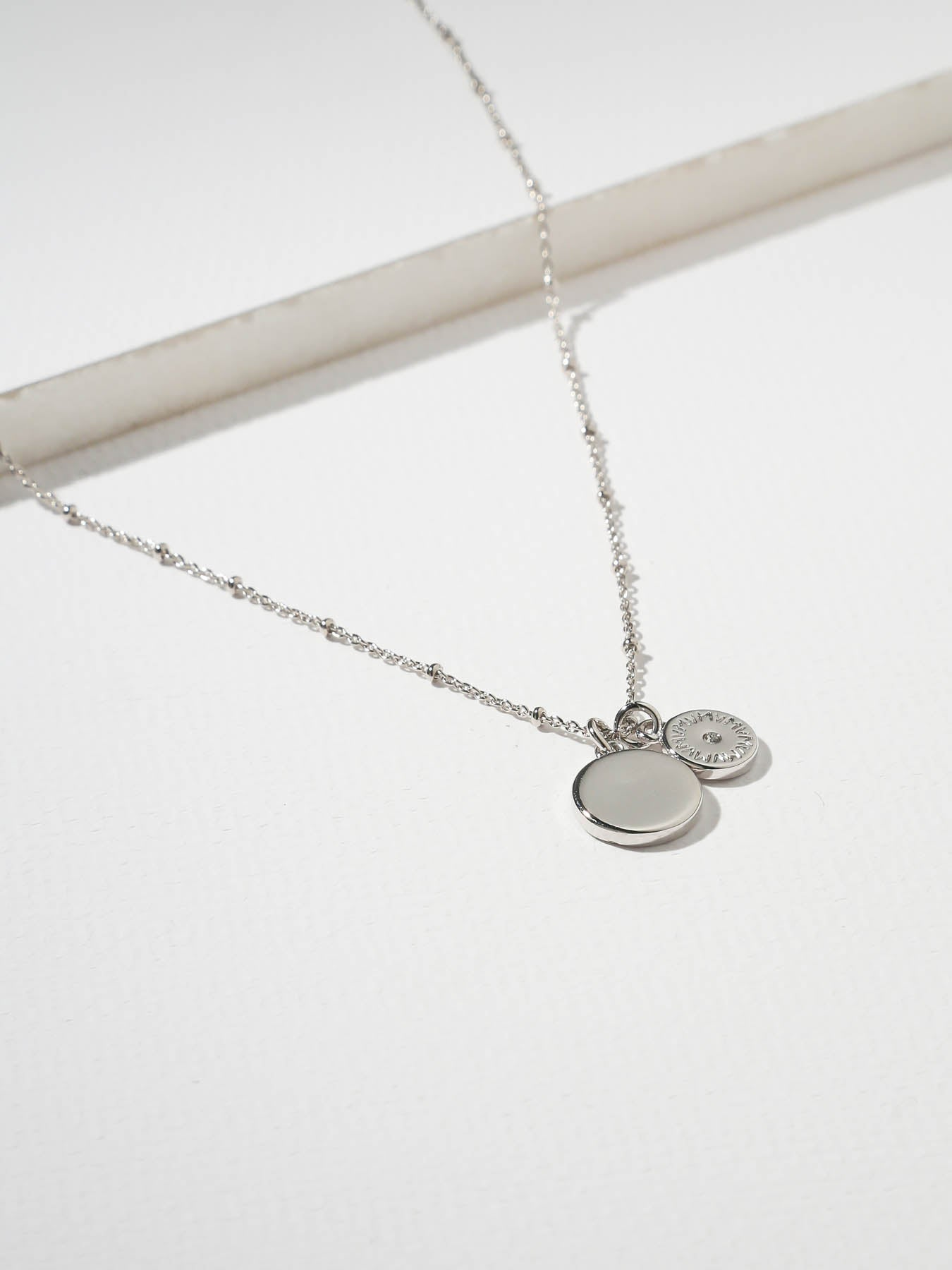 The Royals Mini VM Diamond Logo & Pendant Necklace Silver