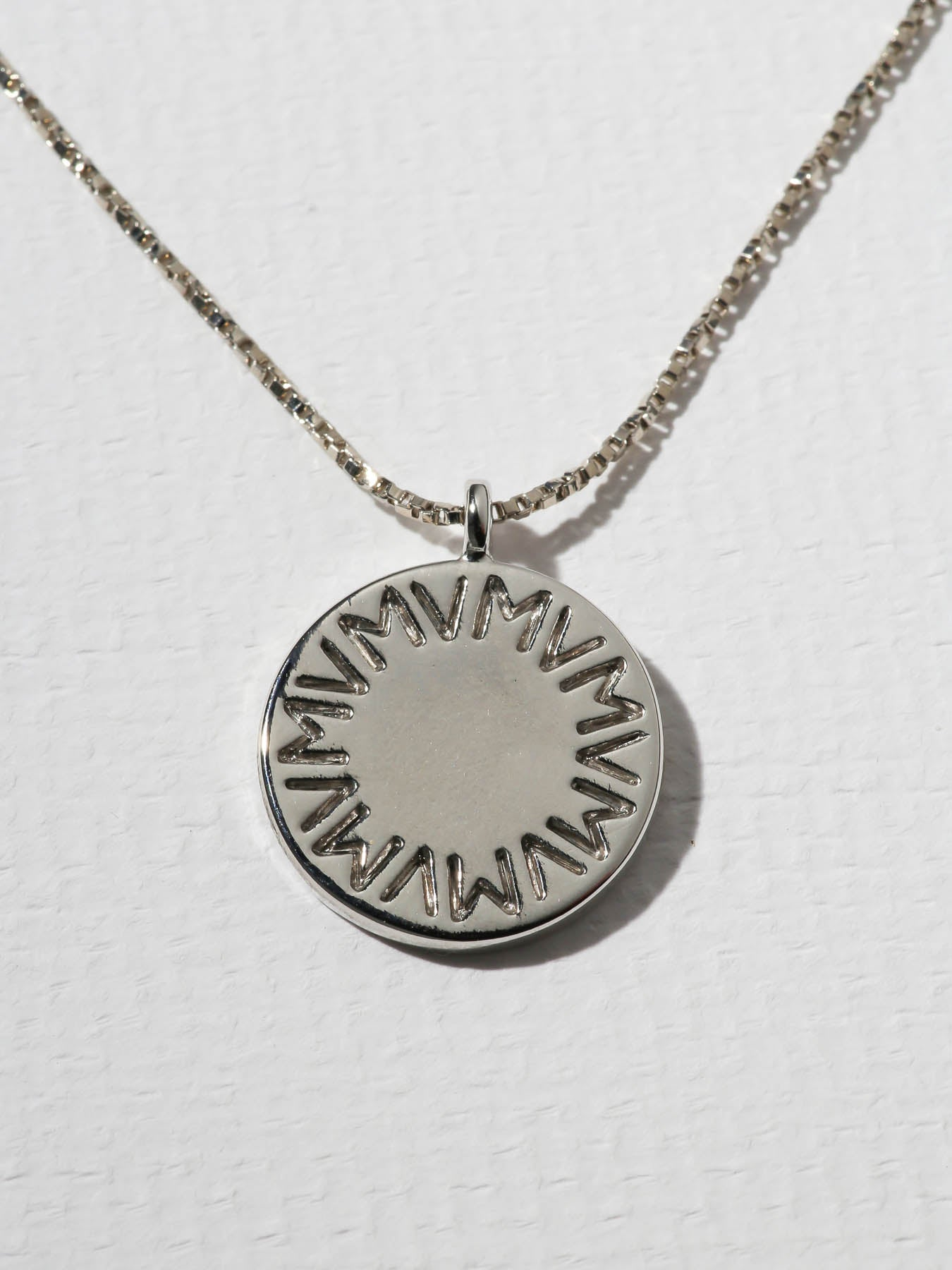 The Royals Large VM Logo Pendant Necklace Silver