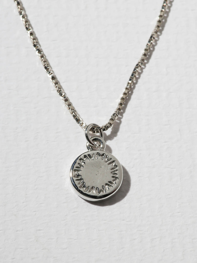 The Royals Mini VM Logo Pendant Necklace Silver