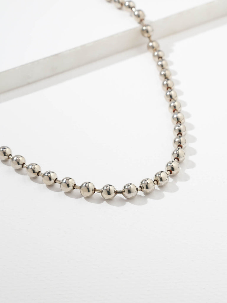 The Boss Ball Chain Necklace Silver