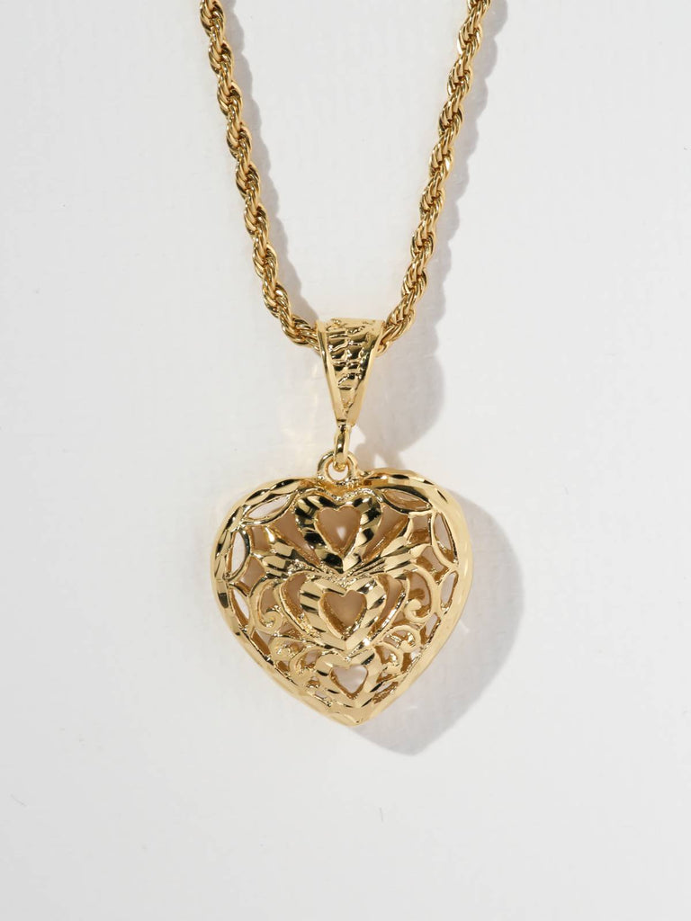 The Lace Heart Necklace