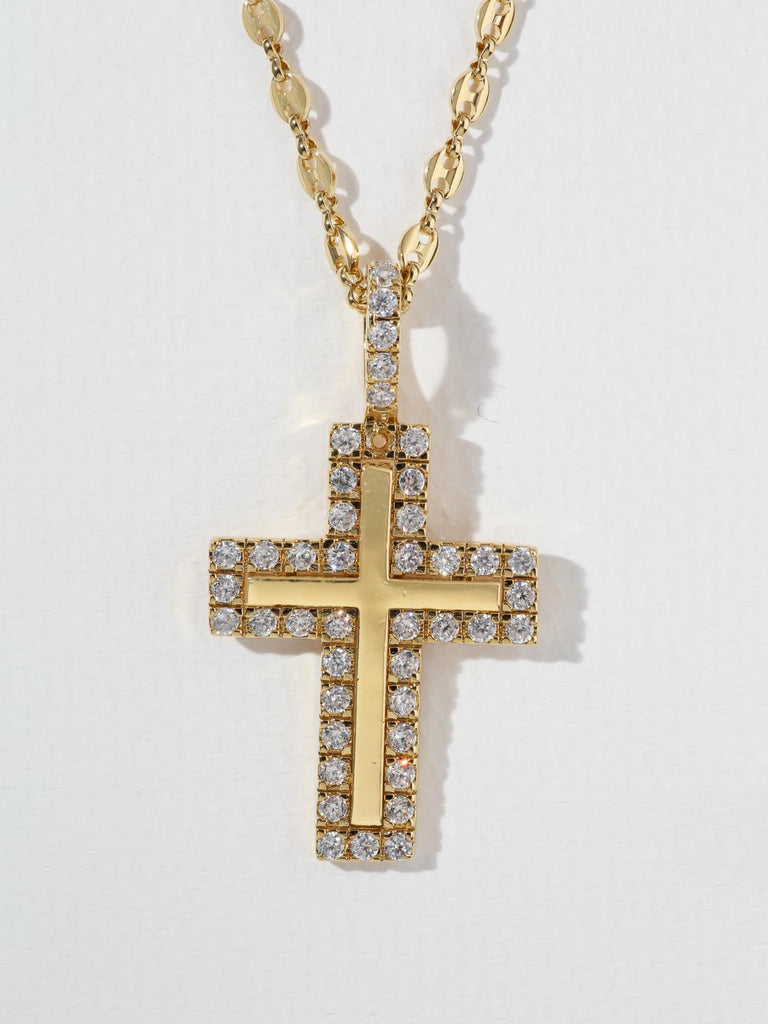 The Crystal Cross Necklace