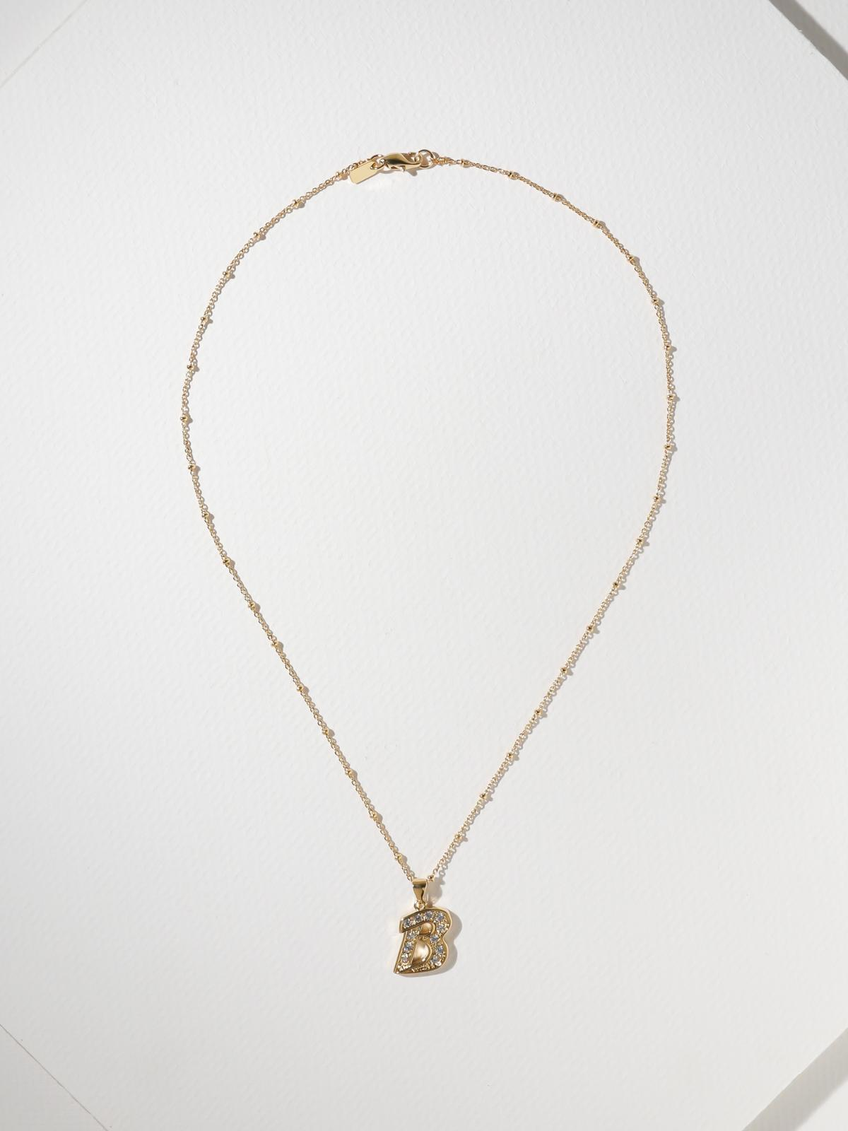 The Crystalized Initial Necklace