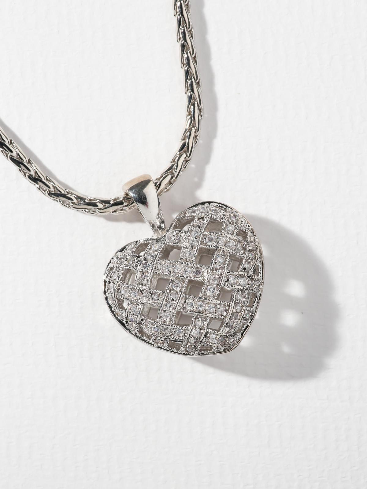 The Lattice Heart Necklace