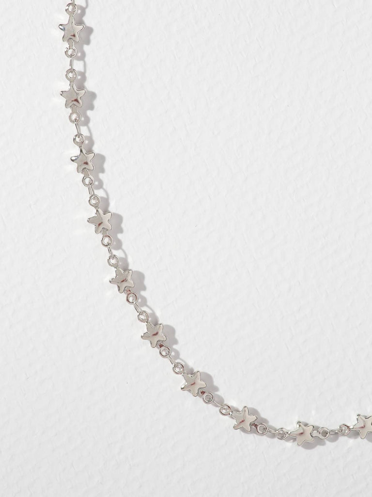 Necklaces The Starstruck Chain Silver Vanessa Mooney
