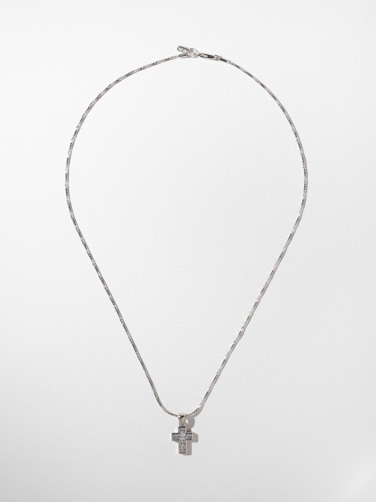 Necklaces The Revered Cross Necklace Silver: Vanessa Mooney