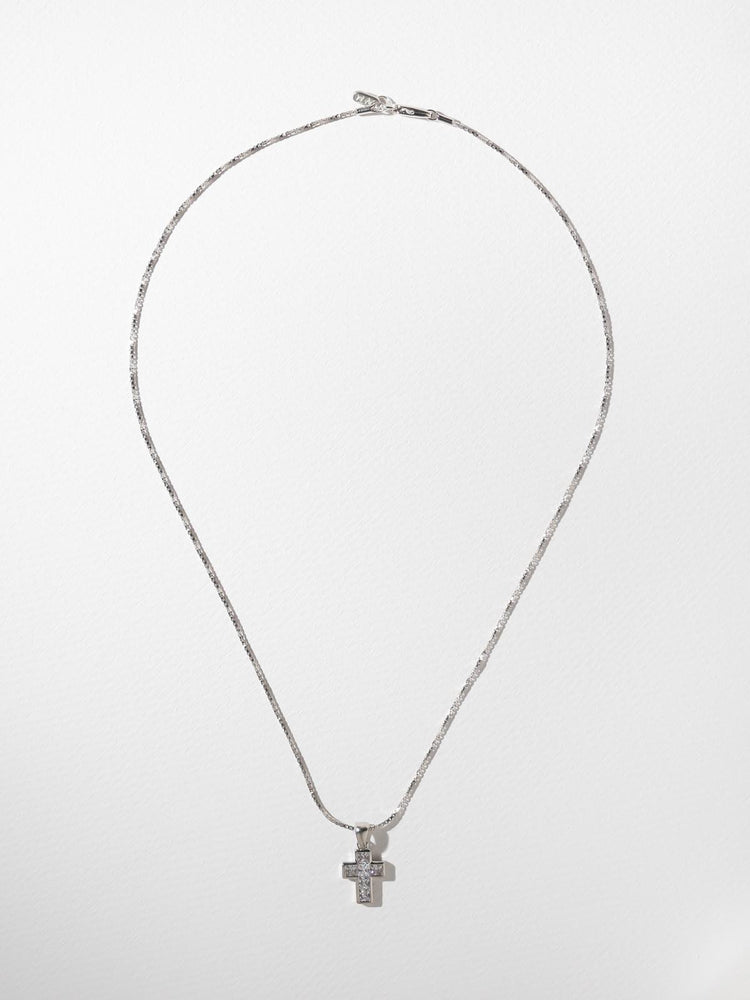 The Revered Cross Necklace Silver: