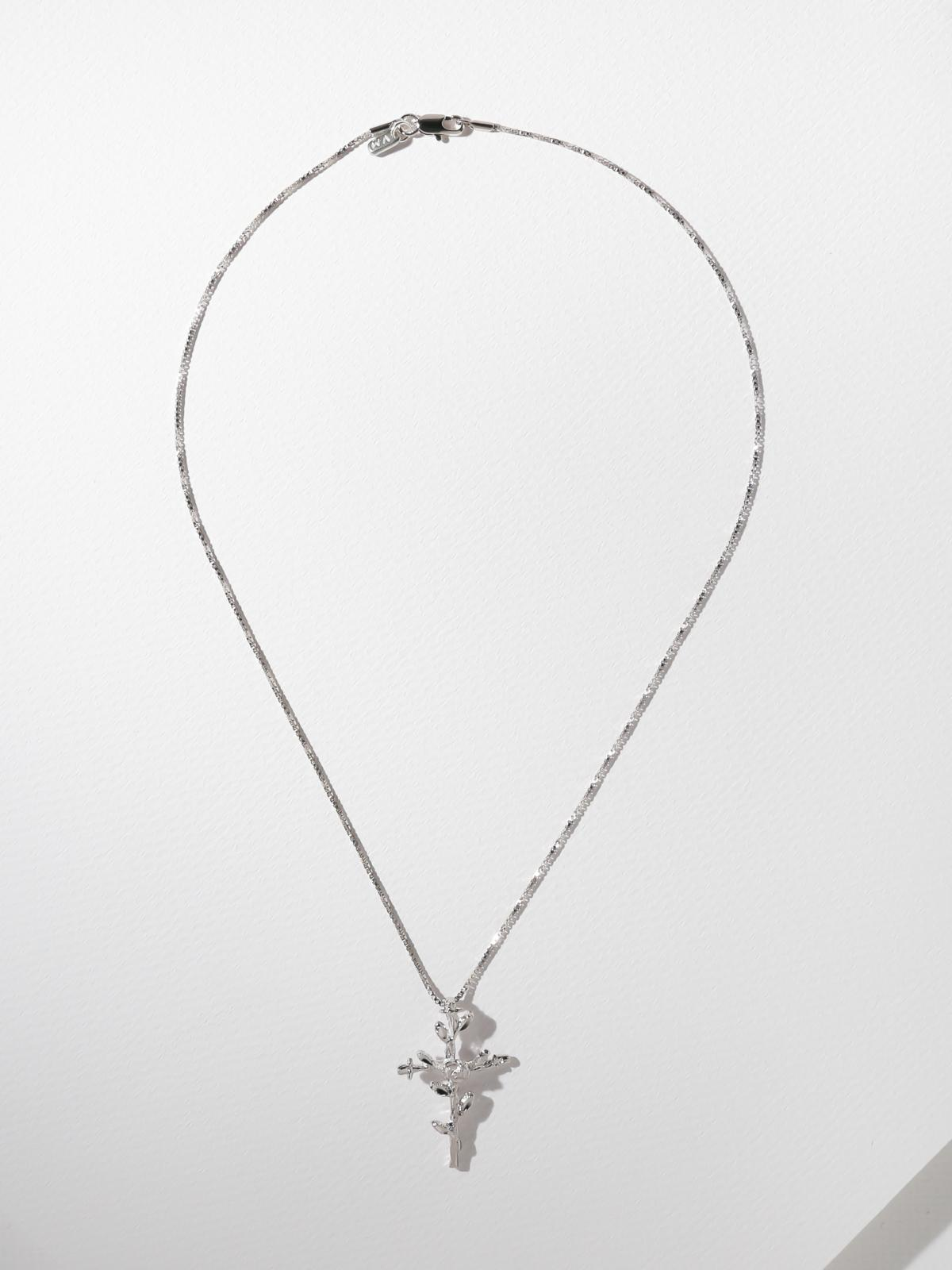 Necklaces The Exalted Cross Necklace - Silver Vanessa Mooney