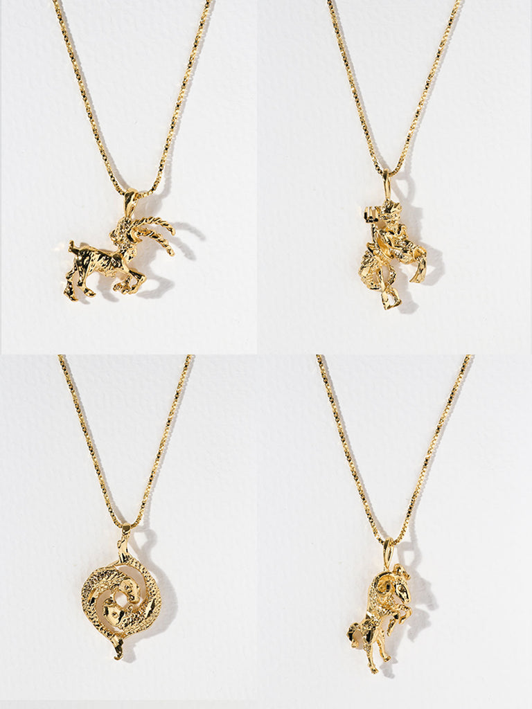 The Zodiac Sign Necklaces: CAPRICORN - ARIES