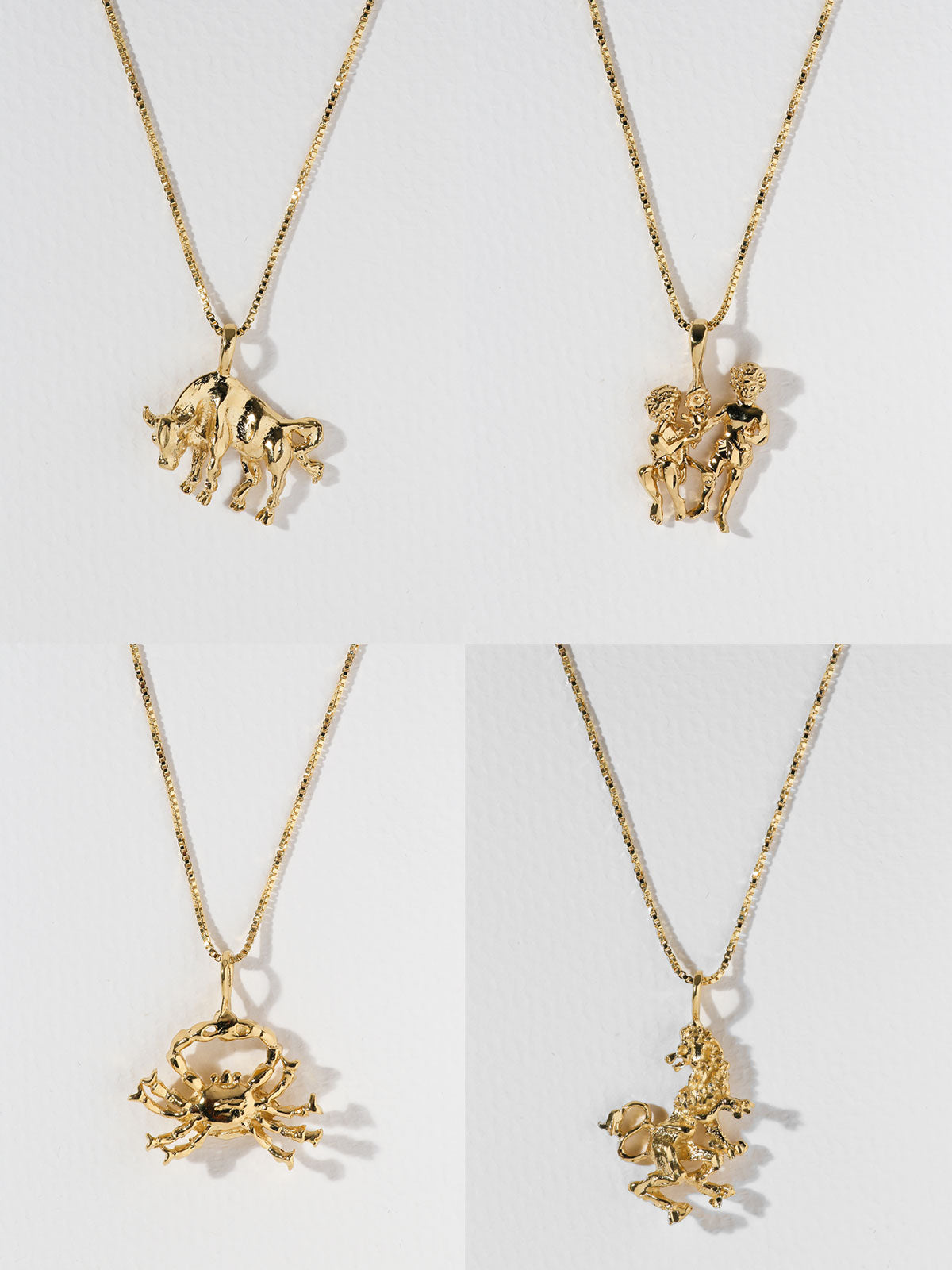 The Zodiac Sign Necklaces Taurus Leo Vanessa Mooney