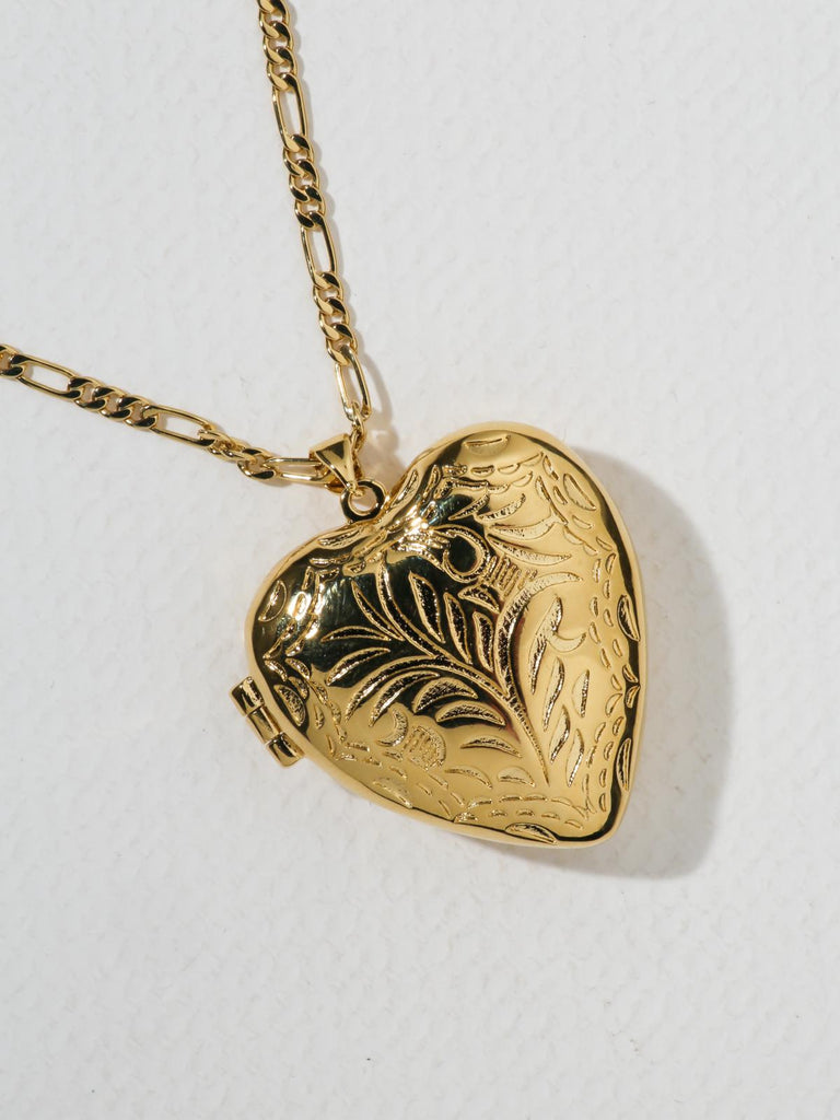 The Large Heart Locket Necklace