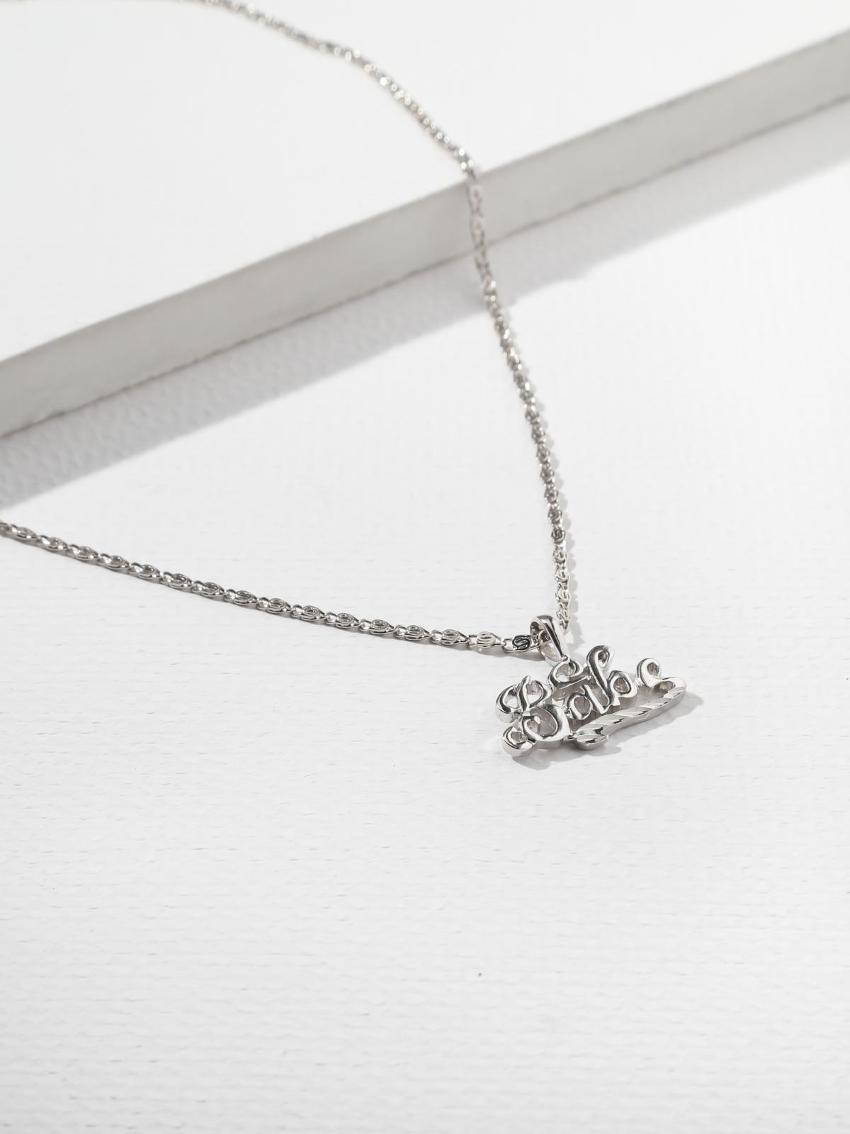 The Babe Necklace Silver
