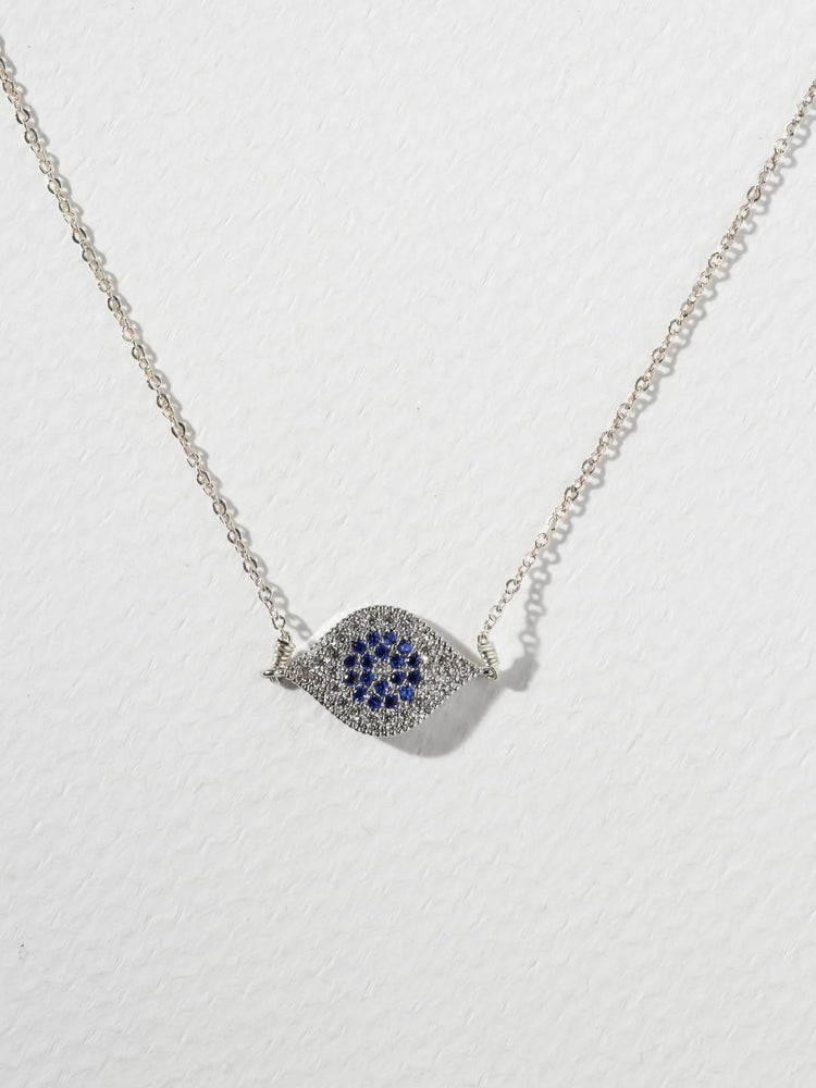 The Little Evil Eye Necklace Silver
