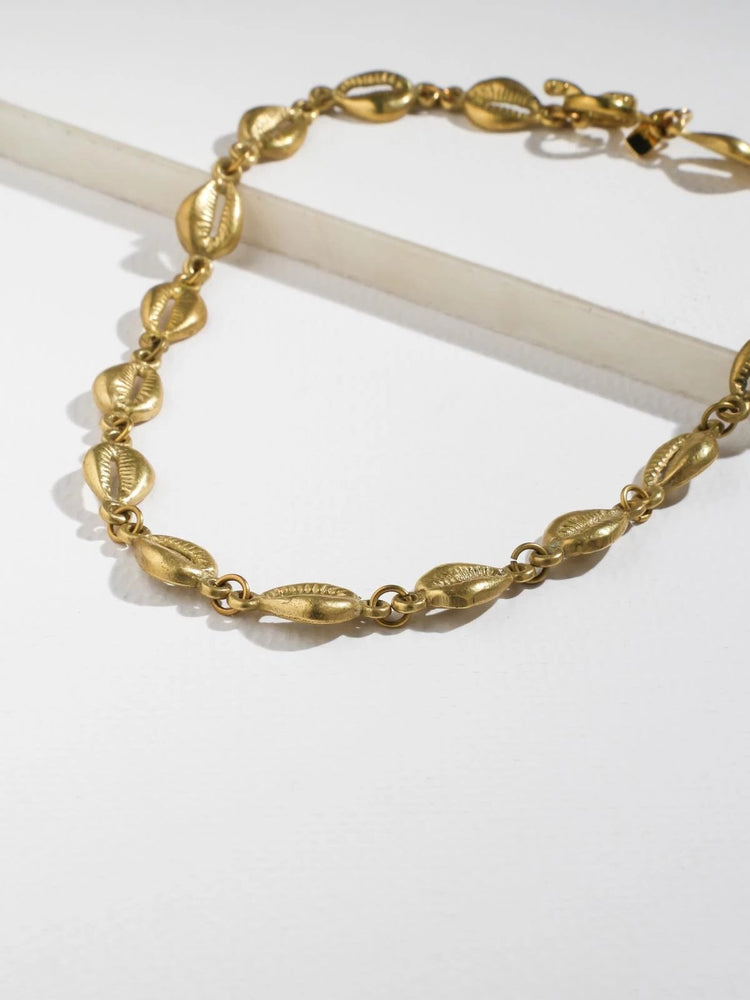The Laguna Necklace Brass