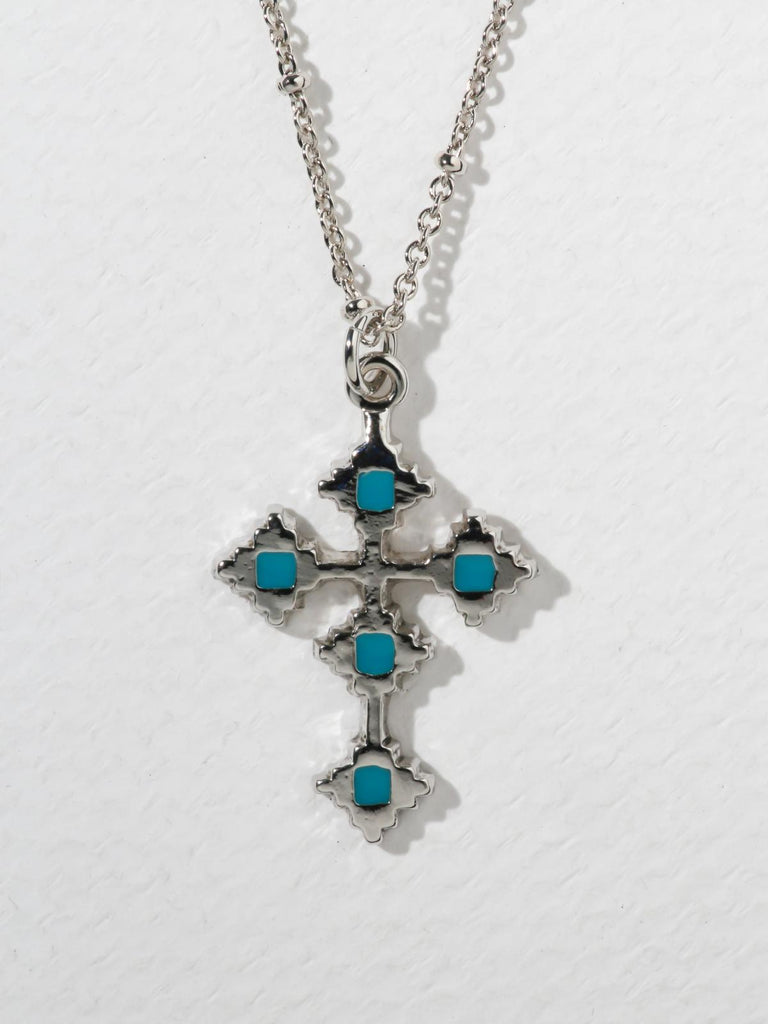 The Paradise Cross Necklace Silver
