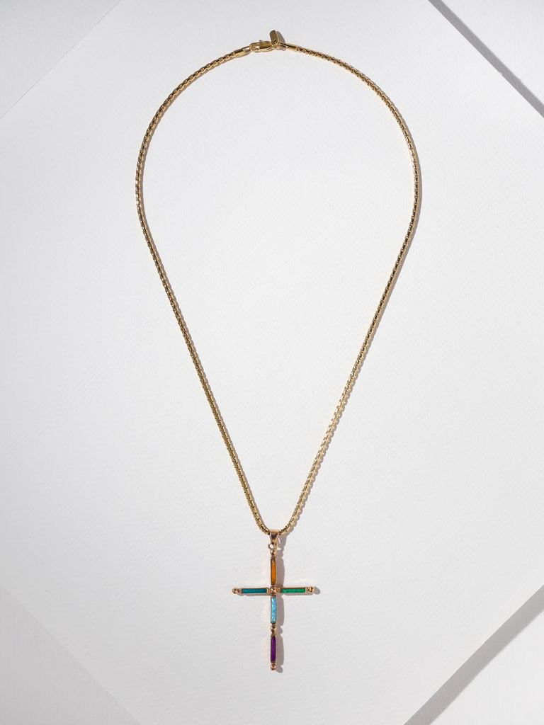 The Stone Cross Necklace