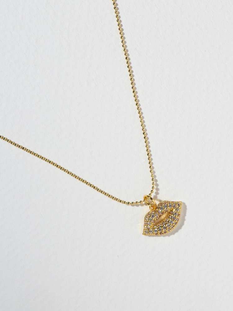 be1849d0208 Necklaces The Crystal Kiss Necklace Vanessa Mooney ...
