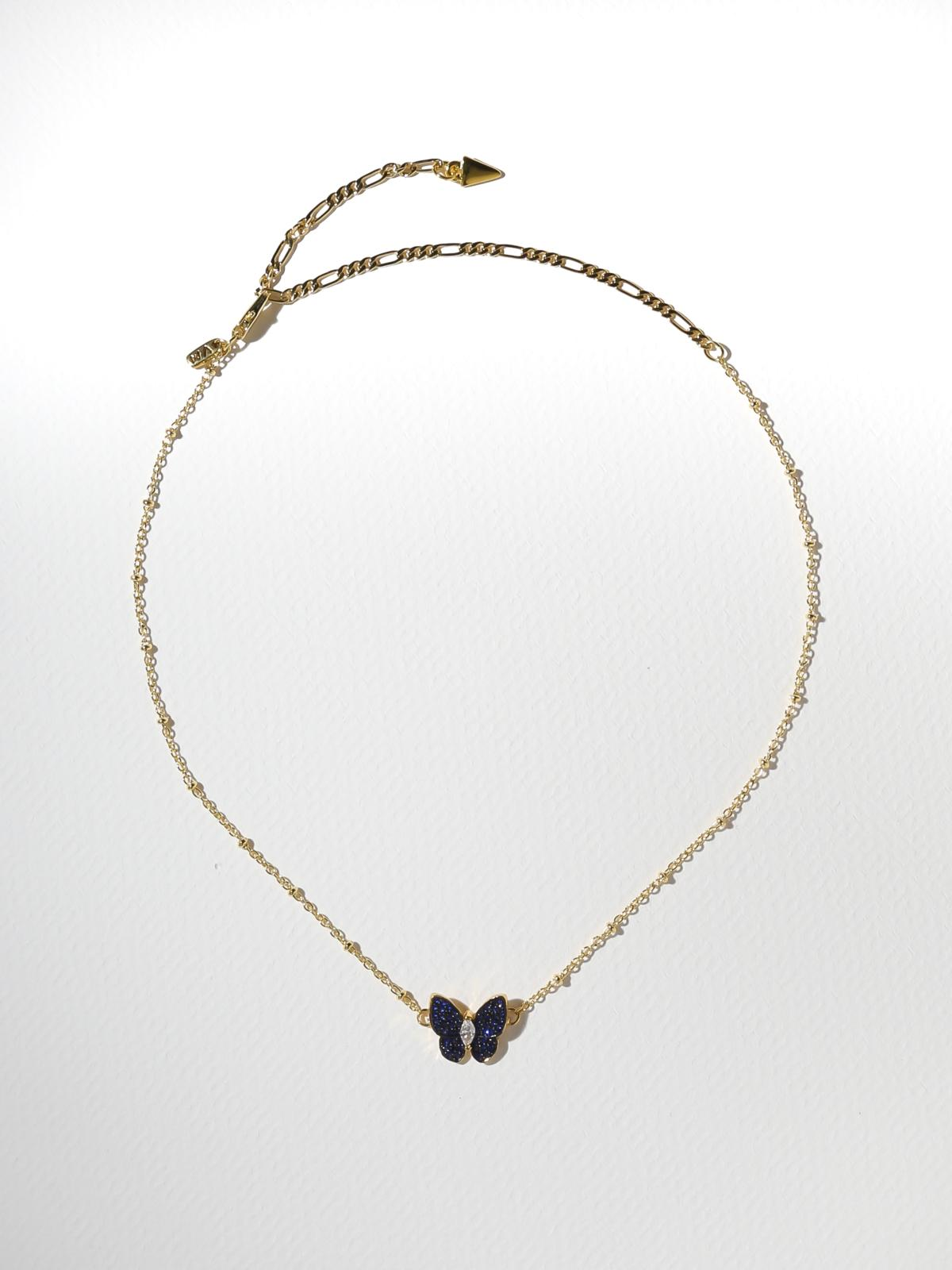 The Monarch Necklace - Blue