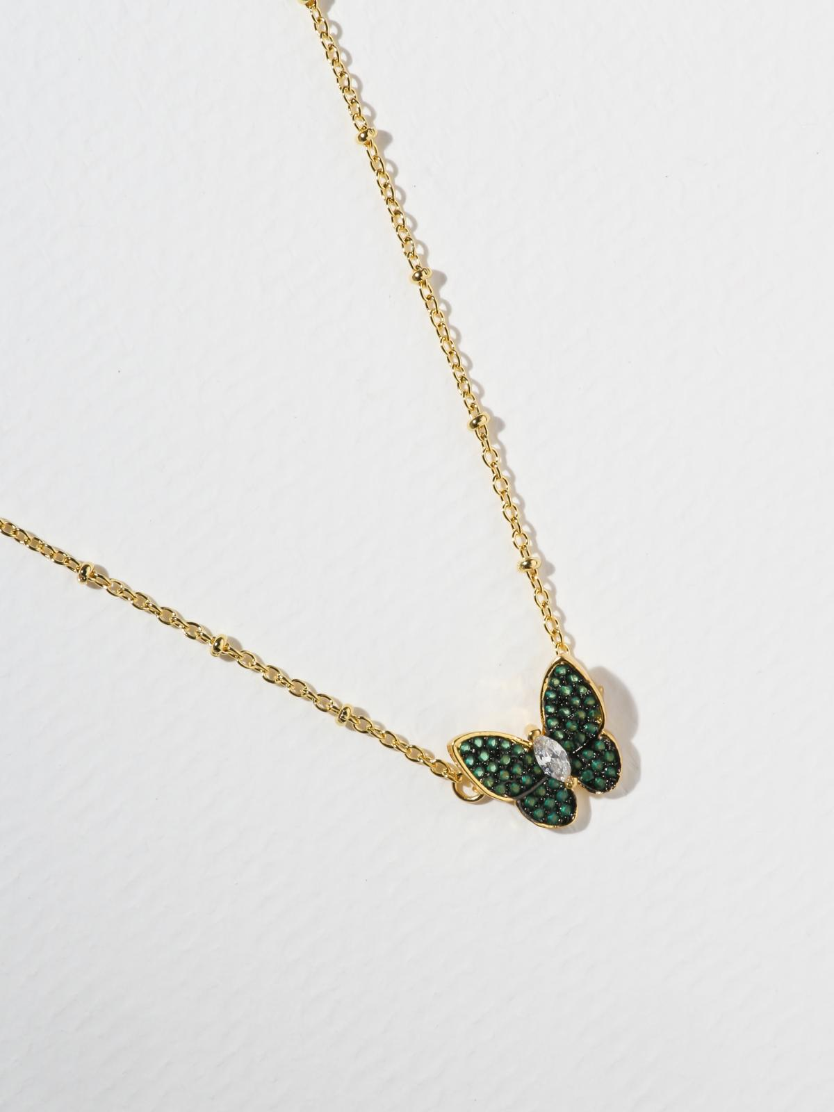 The Monarch Necklace - Green