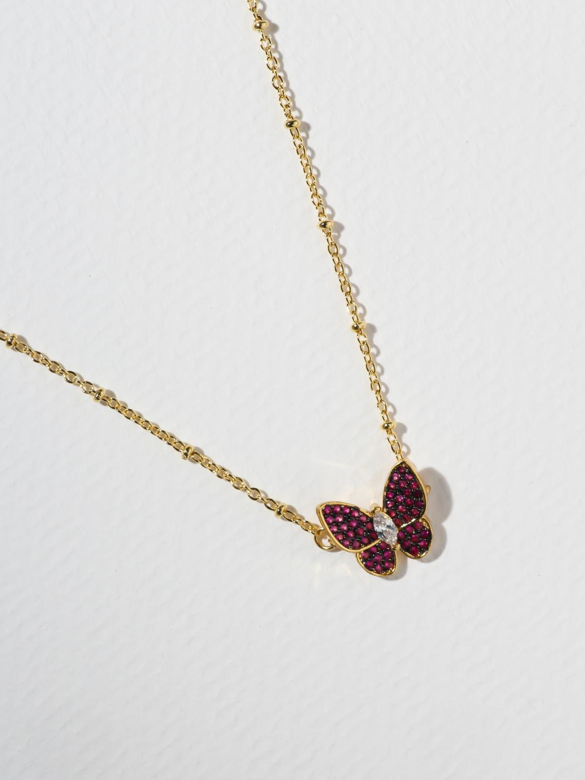 The Monarch Necklace - Red