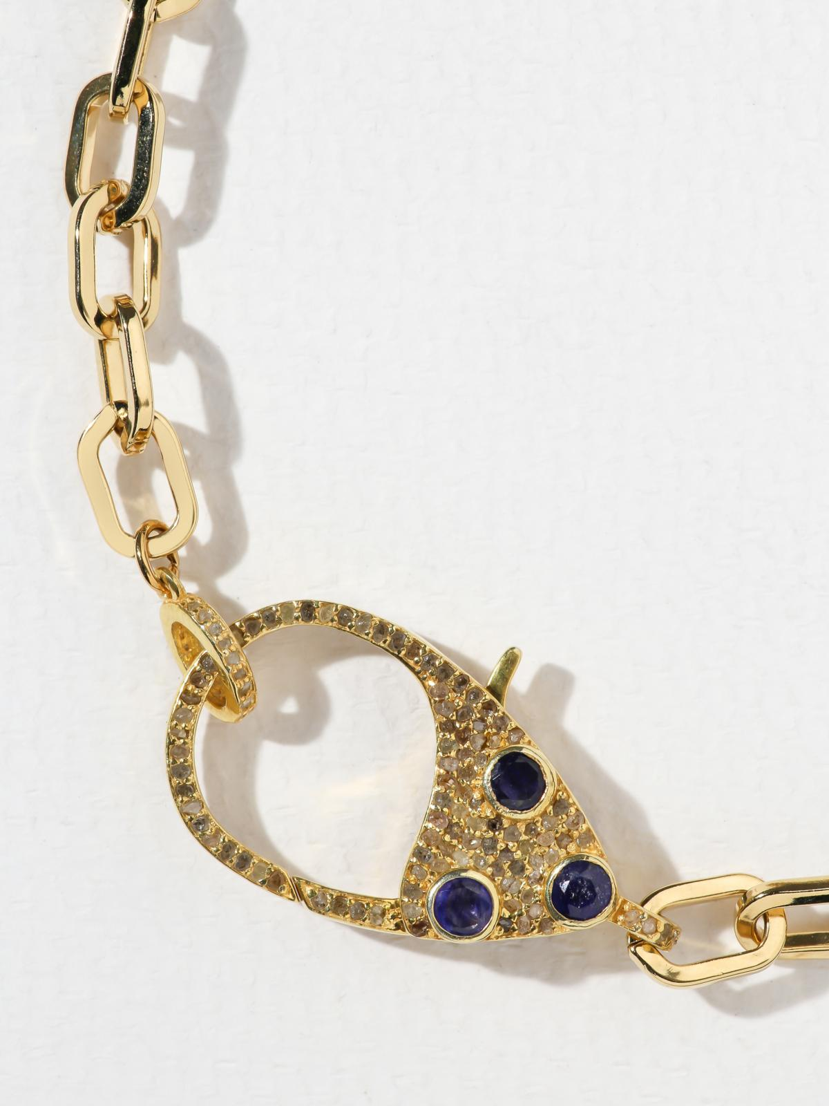 Necklaces The Sapphire & Diamond Clasp Necklace Vanessa Mooney