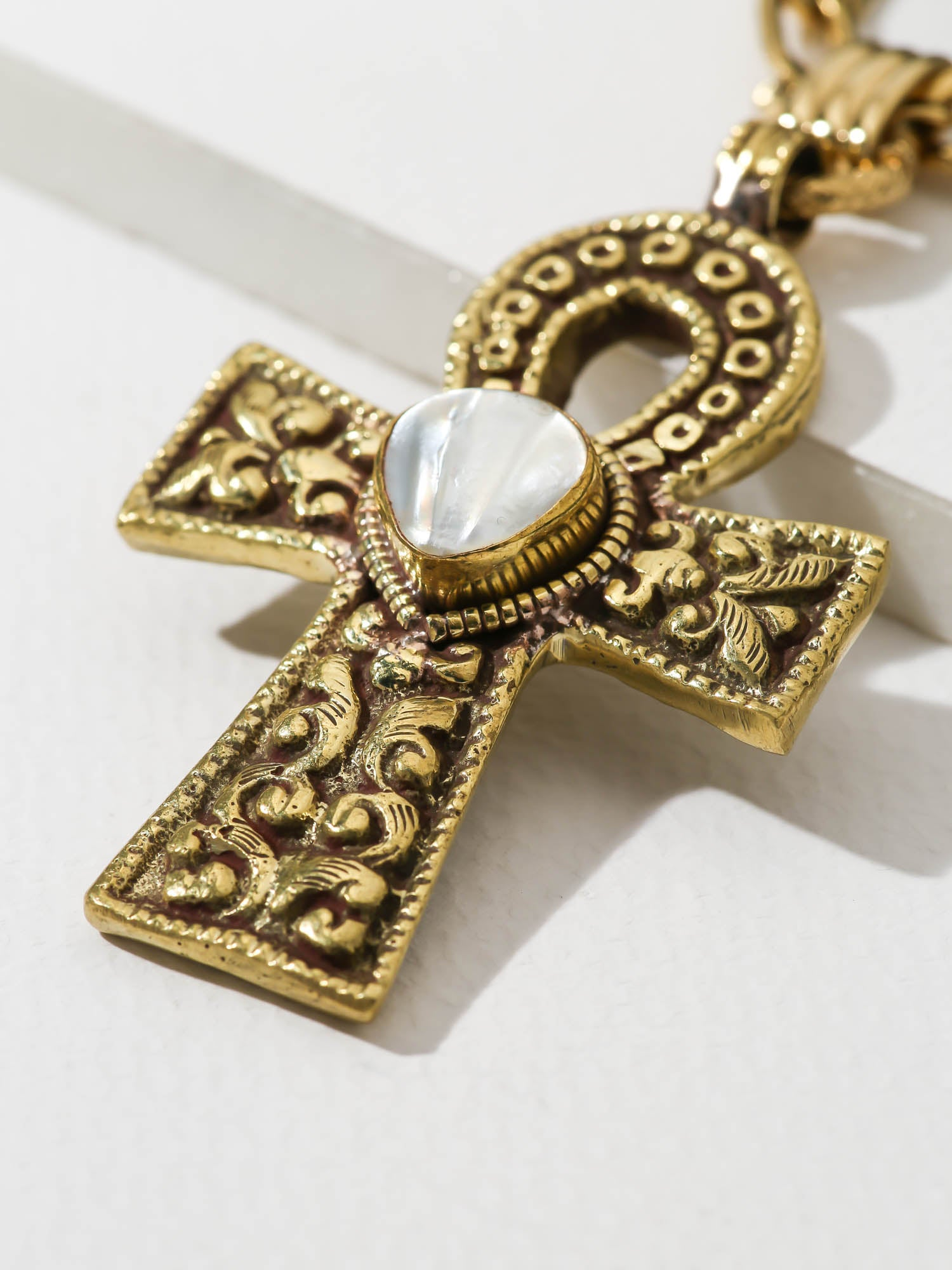 The Moonstone Ankh Necklace