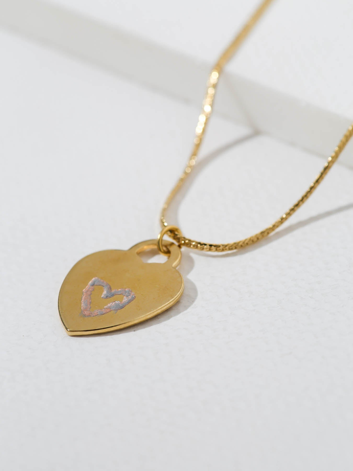 Necklaces The Engraved Heart Necklace Vanessa Mooney