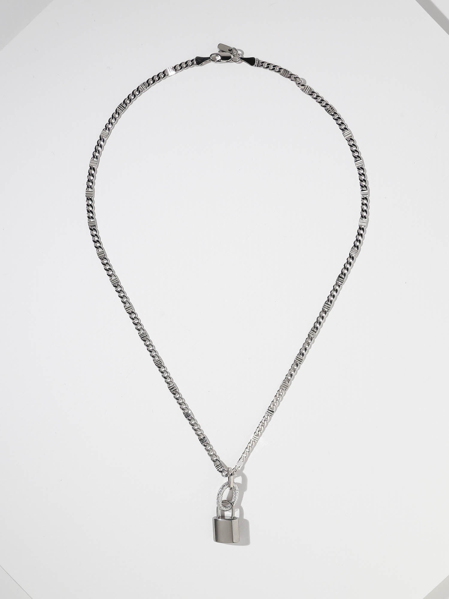 The Lock Necklace - Silver