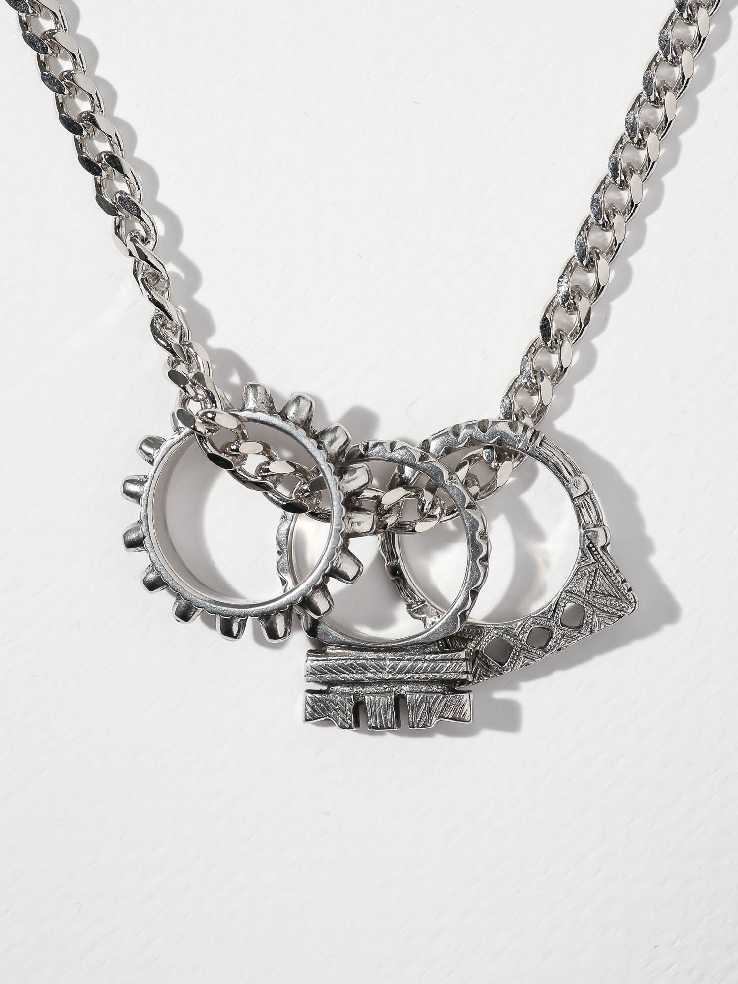 The Tri-Ring Necklace - Silver