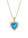 Necklaces The Mini Heart Necklace - Blue Vanessa Mooney
