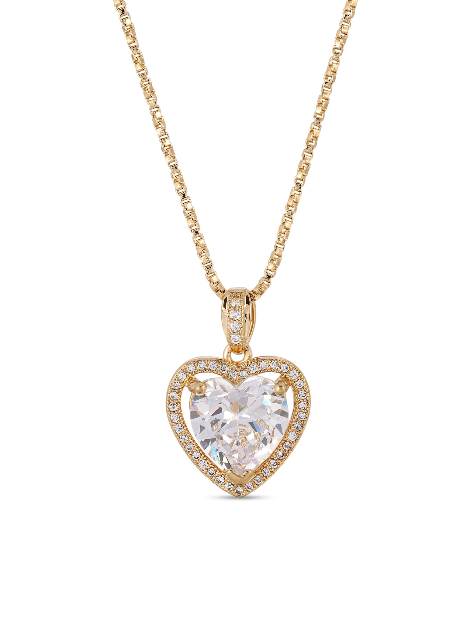The Mini Heart Necklace - Crystal