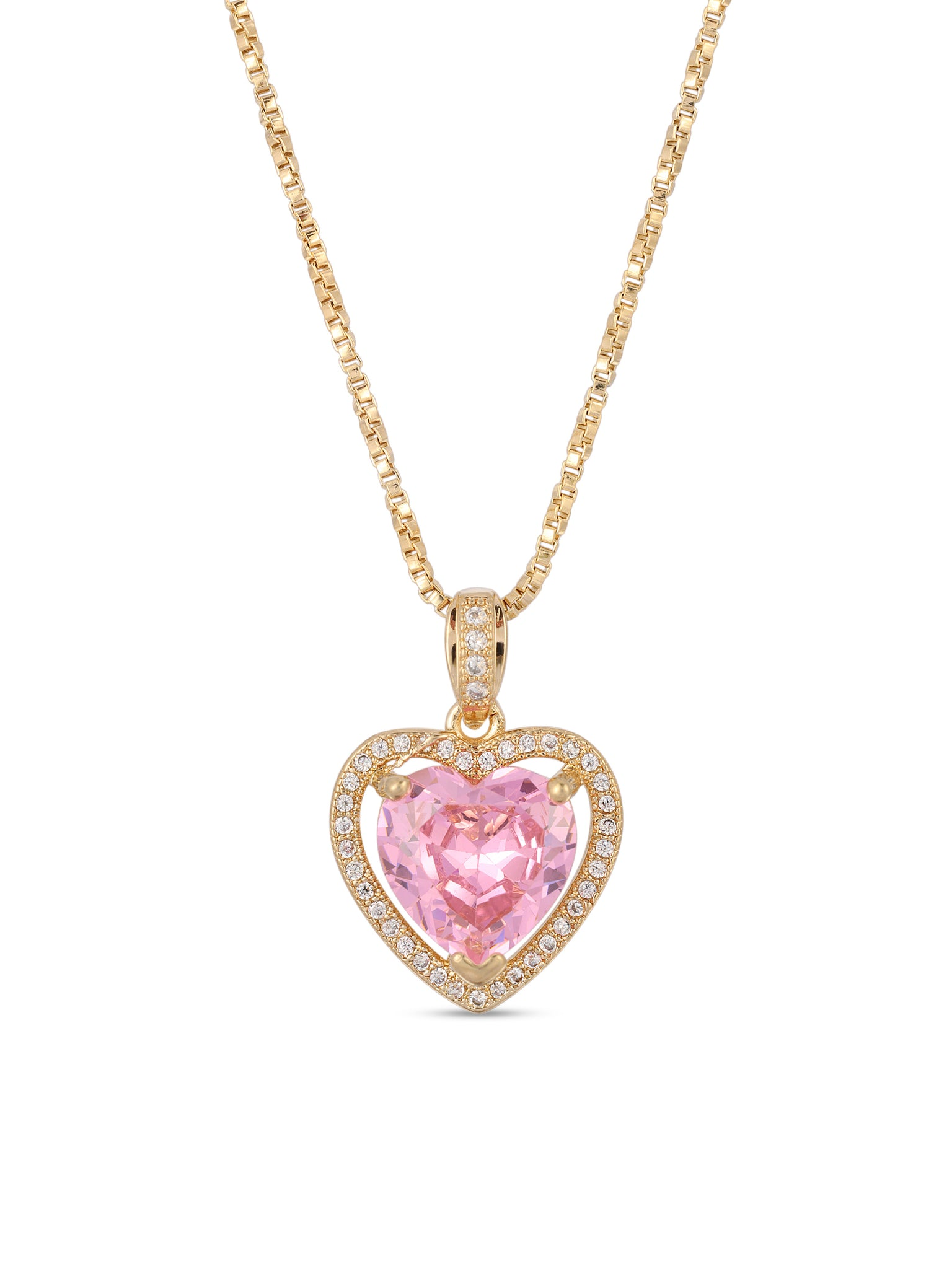 Necklaces The Mini Heart Necklace - Pink Vanessa Mooney