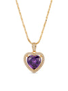 Necklaces The Mini Heart Necklace - Purple Vanessa Mooney