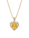 Necklaces The Mini Heart Necklace - Yellow Vanessa Mooney