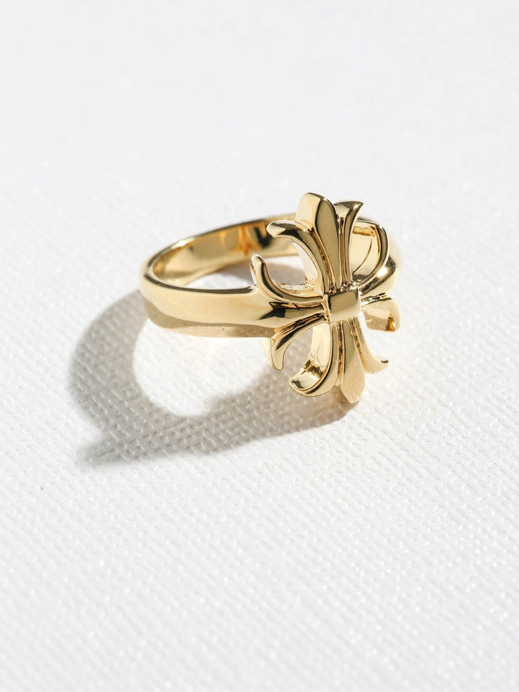 Rings The Fleur Cross Ring Vanessa Mooney