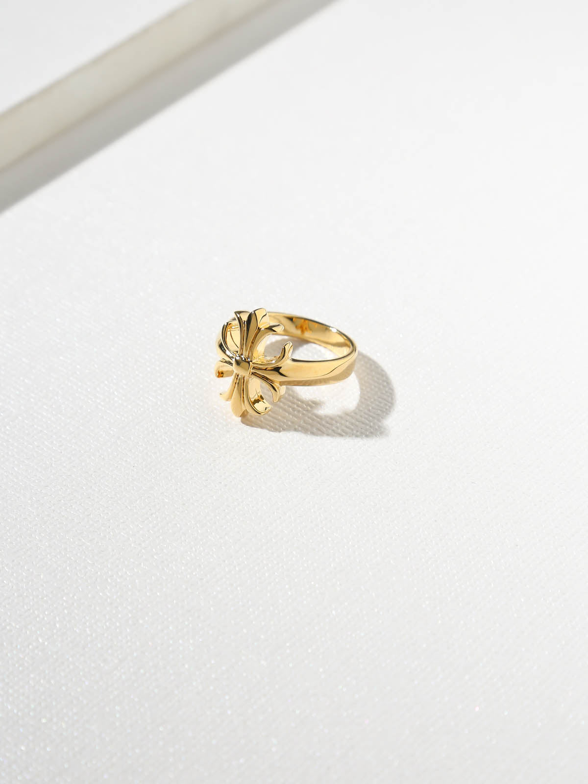 The Fleur Cross Ring