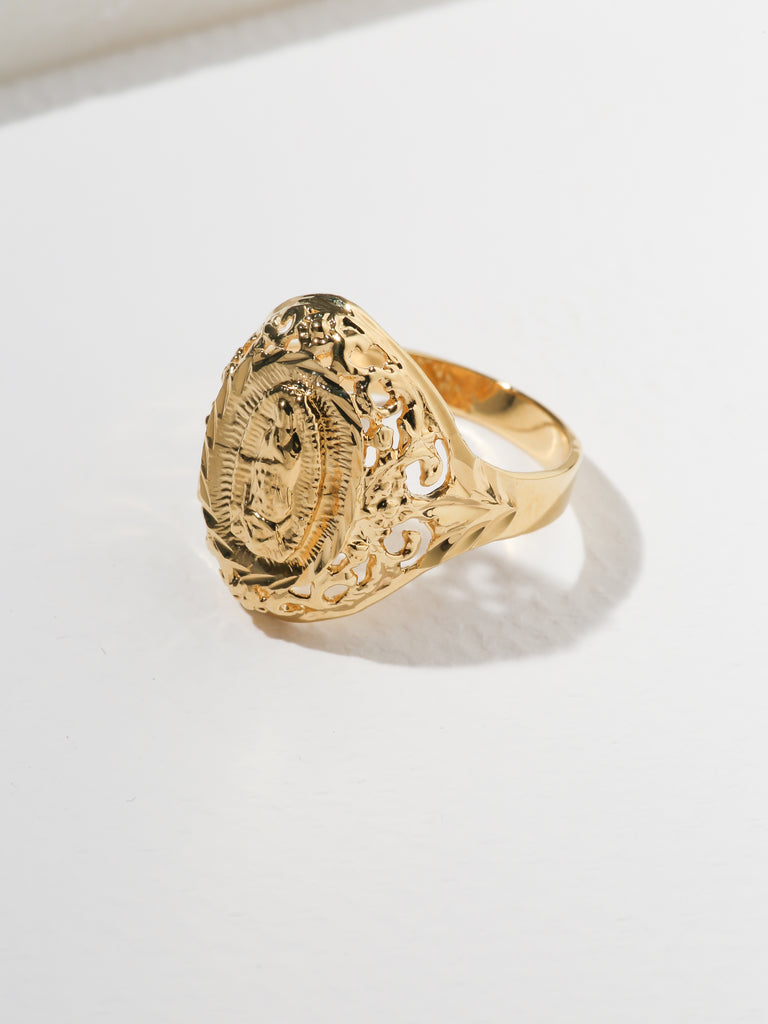 Rings The Unisex Mother Mary Filigree Ring Vanessa Mooney