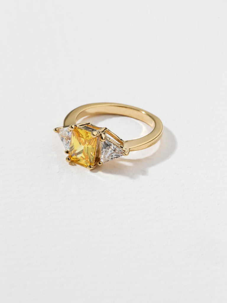 Rings The Mystic Canary Yellow Ring Vanessa Mooney