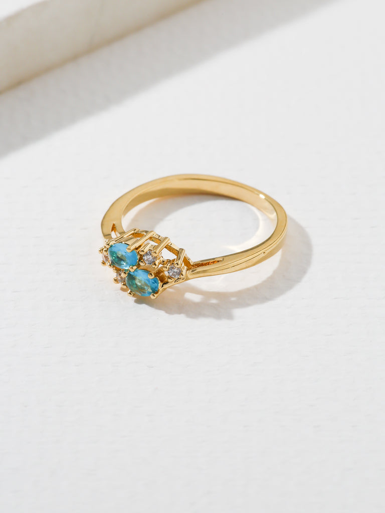 Rings The Triumph Birthstone Ring Blue Topaz Vanessa Mooney