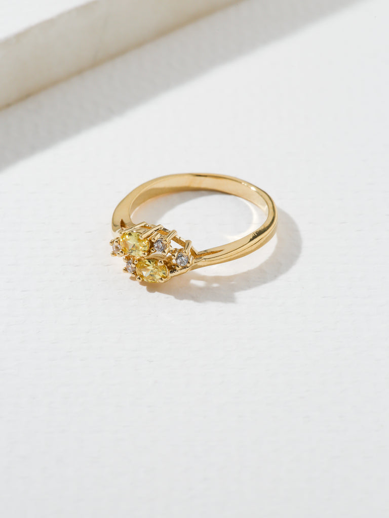 The Triumph Birthstone Ring Yellow Topaz