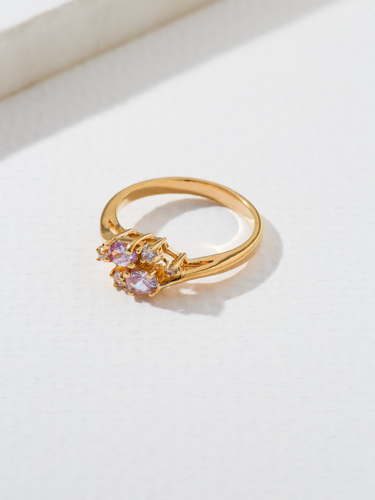 The Triumph Birthstone Ring Pink Tourmaline