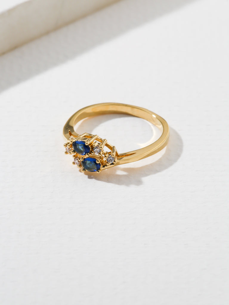 Rings The Triumph Birthstone Ring Sapphire Vanessa Mooney