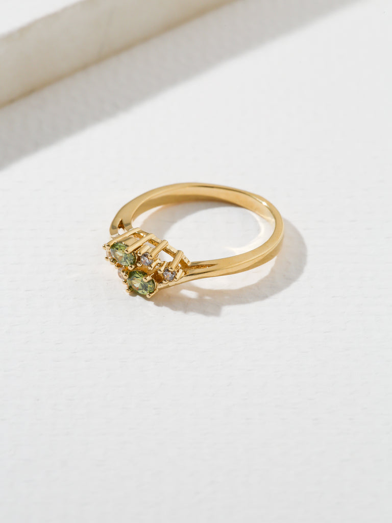 Rings The Triumph Birthstone Ring Peridot Vanessa Mooney