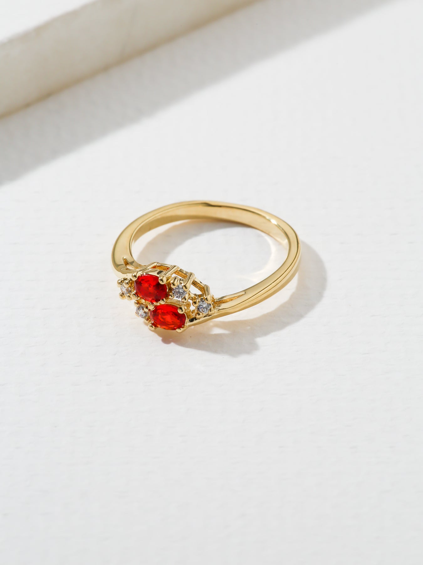 The Triumph Birthstone Ring Ruby