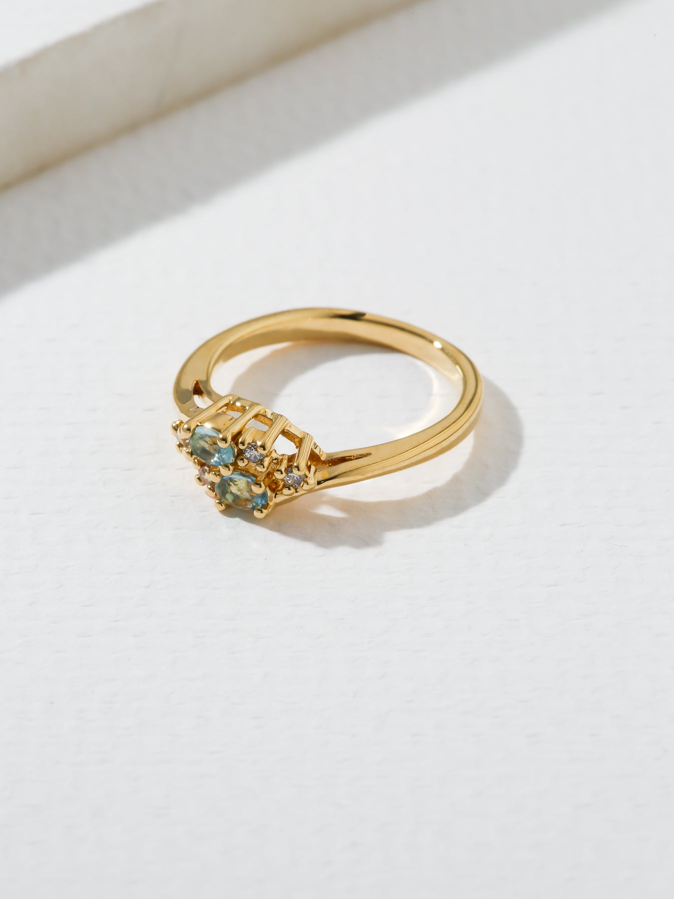 The Triumph Birthstone Ring Aquamarine