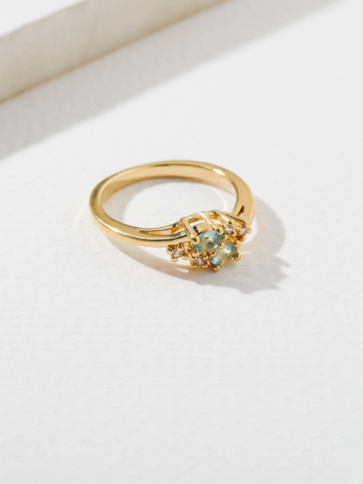 Rings The Triumph Birthstone Ring Aquamarine Vanessa Mooney
