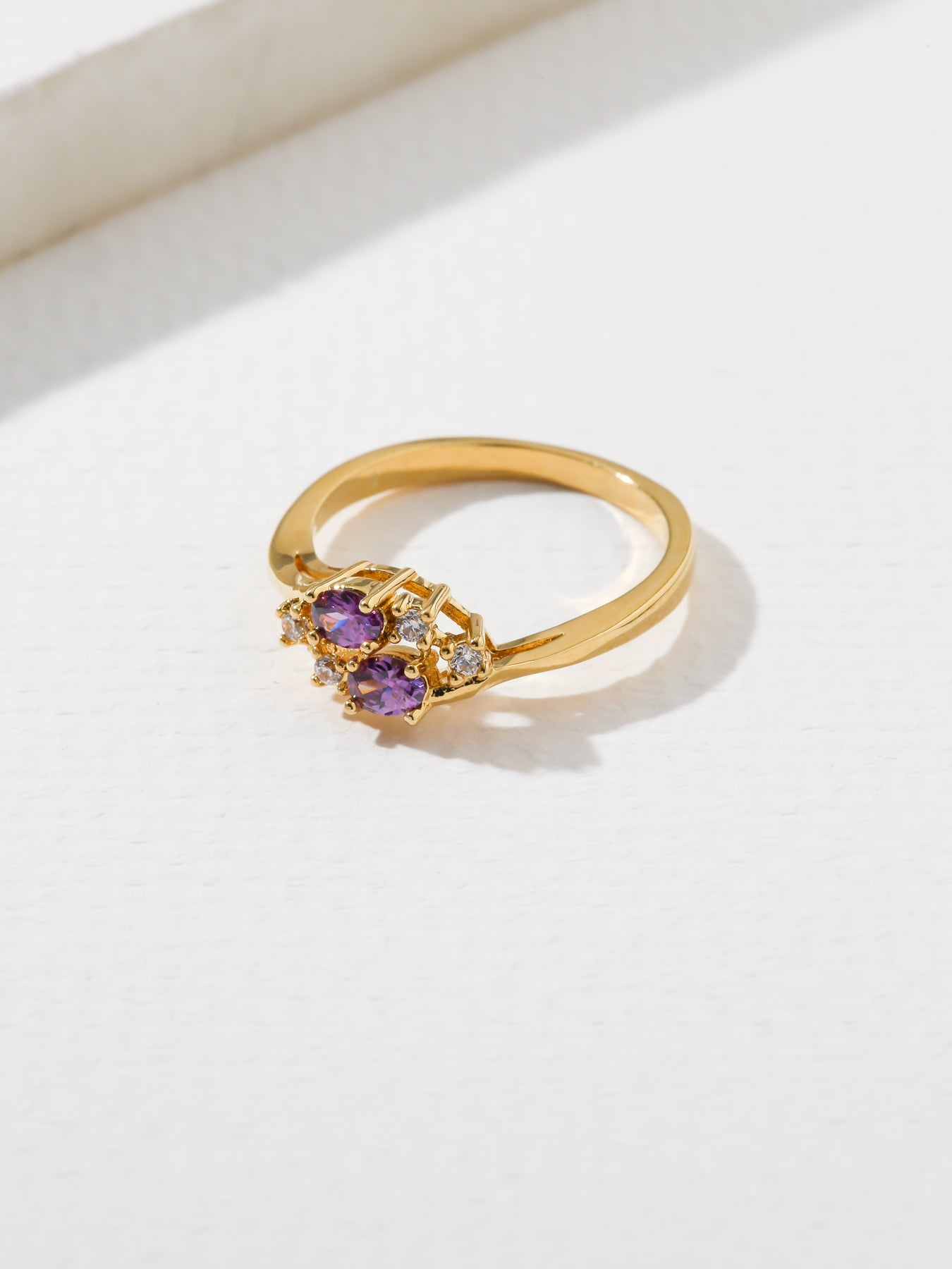 The Triumph Birthstone Ring Amethyst