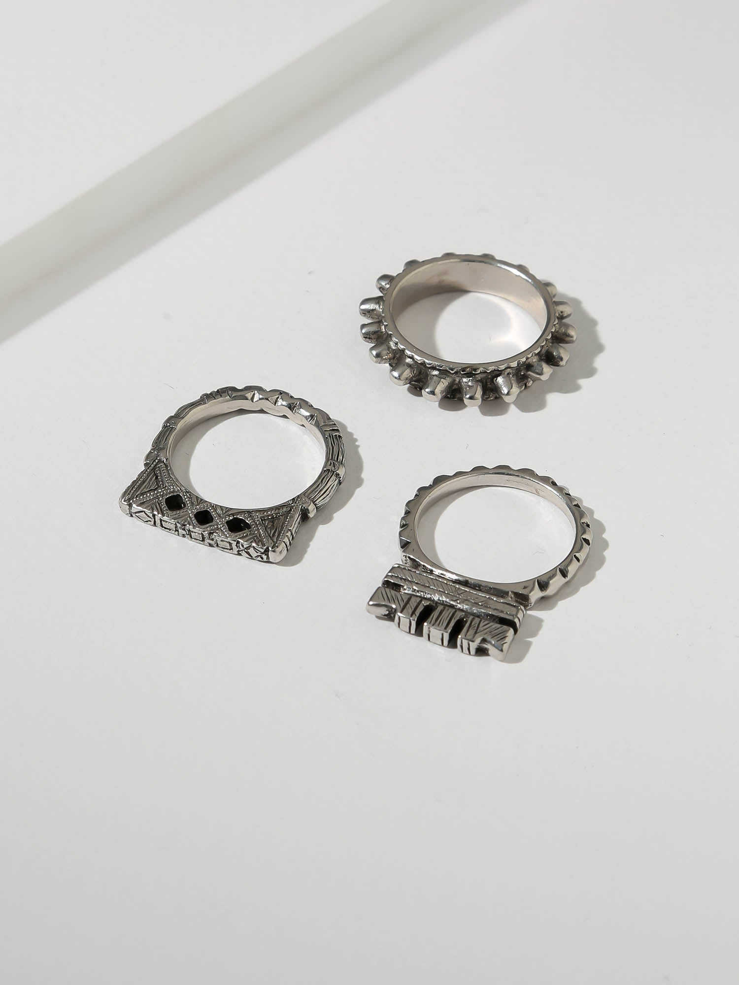 The Tri-Ring Set - Silver